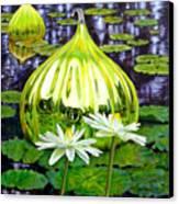 Glass Among The Lilies Canvas Print
