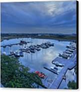 glass Harbour Canvas Print by Mario Legaspi