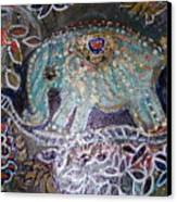 Glitter Girl Elephant Walking In My Dream  Canvas Print