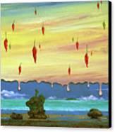 Global Meltdown Canvas Print by Sharon Ebert