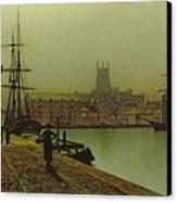 Gloucester Docks Canvas Print by John Atkinson Grimshaw