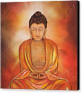 Glowing Buddha  Canvas Print