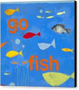 Go Fish Canvas Print by Laurie Breen