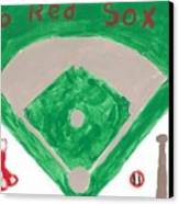 Go Red Sox Canvas Print by Rosemary Mazzulla