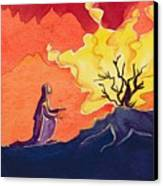 God Speaks To Moses From The Burning Bush Canvas Print