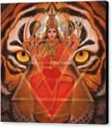 Goddess Durga Canvas Print by Sue Halstenberg