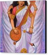 Goddess Saraswati Canvas Print by Sue Halstenberg
