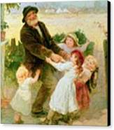 Going To The Fair Canvas Print by Frederick Morgan