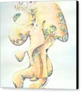 Gold Bejeweled Fertility Goddess Canvas Print