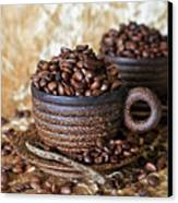 Gold Coffee Canvas Print by Tracy Hall