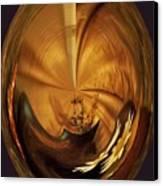 Gold Satin Canvas Print by Marsha Heiken