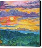 Golden Blue Ridge Sunset Canvas Print