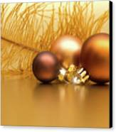 Golden Christmas Canvas Print by Wim Lanclus