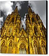 Golden Dome Of Cologne Canvas Print by Thomas Splietker