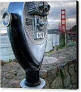 Golden Gate Binoculars Canvas Print by Peter Tellone