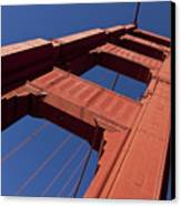 Golden Gate Bridge At An Angle Canvas Print
