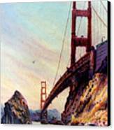 Golden Gate Bridge Looking South Canvas Print by Donald Maier