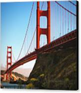 Golden Gate Bridge Sausalito Canvas Print by Doug Sturgess