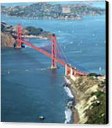 Golden Gate Bridge Canvas Print by Stickney Design