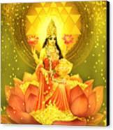 Golden Lakshmi Canvas Print by Lila Shravani