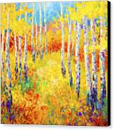 Golden Path Canvas Print by Marion Rose