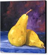 Golden Pears Canvas Print