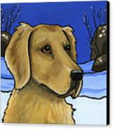 Golden Retriever Canvas Print by Leanne Wilkes