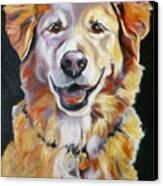Golden Retriever Most Huggable Canvas Print by Susan A Becker