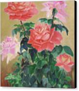 Golden Roses Canvas Print
