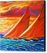 Golden Sails Canvas Print by Joseph   Ruff