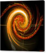 Golden Swirl Canvas Print