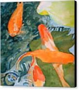 Goldface - Watercolor Canvas Print