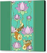 Goldfish And Lotus Canvas Print