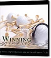 Golf Motivational Poster Canvas Print