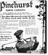 Golf: Pinehurst, 1916 Canvas Print by Granger