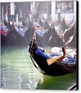 Gondola In Venice In The Morning Canvas Print