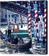 Gondola In Venice On Grand Canal Canvas Print