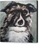 Good Dog By Christine Lites Canvas Print by Allen Sheffield
