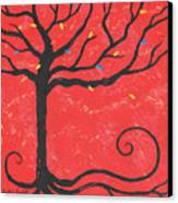 Good Luck Tree - Left Canvas Print by Kristi L Randall
