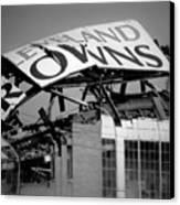 Goodbye Cleveland Stadium Canvas Print