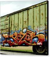 Graffiti Boxcar Canvas Print by Danielle Allard
