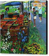 Grafton Farmer's Market Canvas Print by Allison Coelho Picone