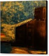 Grain Elevator On Lake Erie From A Photo By Nicole Bulger Canvas Print by Marie Bulger