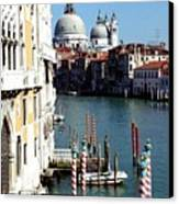 Grand Canal In Venice From Accademia Bridge Canvas Print by Michael Henderson