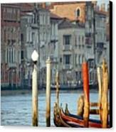 Grand Canal In Venice With Light On Pole Canvas Print