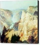 Grand Canyon Of The Yellowstone Park Canvas Print by Thomas Moran
