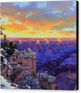Grand Canyon Winter Sunset Canvas Print by Gary Kim