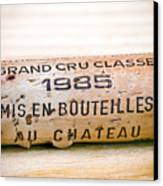Grand Cru Classe Bordeaux Wine Cork Canvas Print