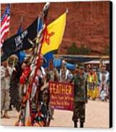 Grand Entry At Star Feather Pow-wow Canvas Print