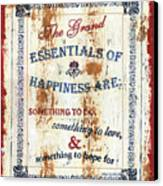 Grand Essentials Of Happiness Canvas Print